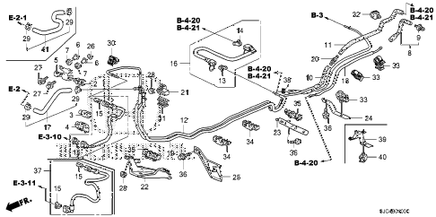 Honda online store : 2008 ridgeline fuel pipe parts
