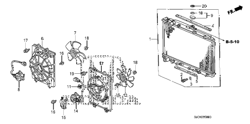 Honda online store : 2007 ridgeline radiator (1) parts