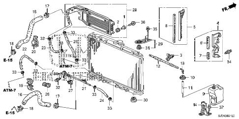 Honda online store : 2006 ridgeline radiator hose (1) parts