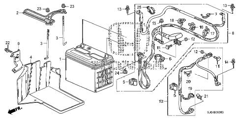 Honda online store : 2006 ridgeline battery (1) parts