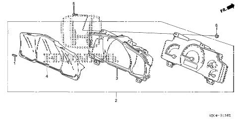 Honda online store : 2006 ridgeline meter components (1) parts