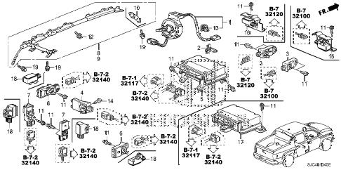 Honda online store : 2008 ridgeline srs unit parts