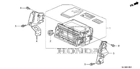 Honda online store : 2008 ridgeline audio unit parts