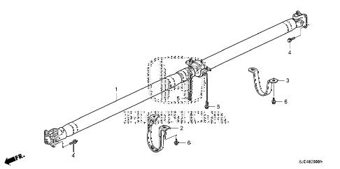 Honda online store : 2007 ridgeline propeller shaft parts