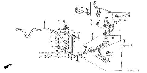 Honda online store : 2007 ridgeline front stabilizer