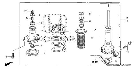 Honda online store : 2006 ridgeline rear shock absorber parts