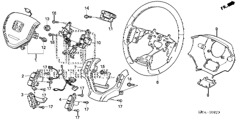 Honda online store : 2006 ridgeline steering wheel (srs