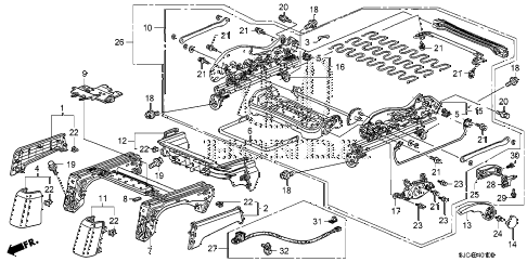 Honda online store : 2006 ridgeline front seat components