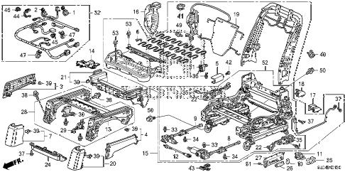 Honda online store : 2013 ridgeline front seat components