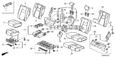Honda online store : 2006 ridgeline rear seat parts
