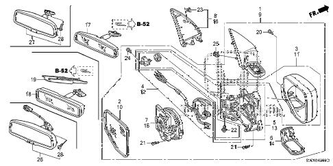 Honda online store : 2006 ridgeline mirror parts