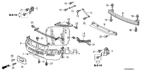 Honda online store : 2007 ridgeline front bumper (1) parts