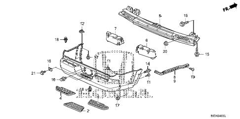 Honda online store : 2006 ridgeline rear bumper (1) parts
