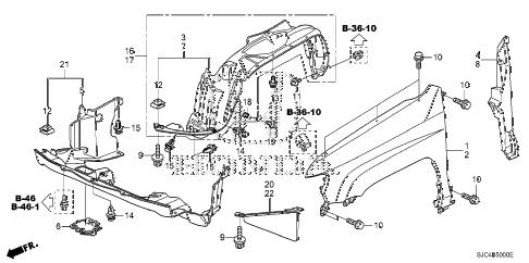 Honda online store : 2006 ridgeline front fenders parts