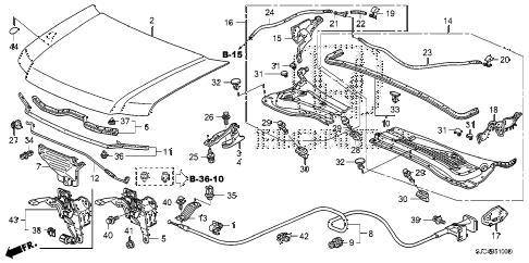 Honda online store : 2007 ridgeline engine hood parts