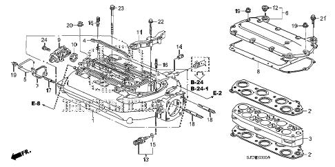 Honda online store : 2006 ridgeline intake manifold (1) parts