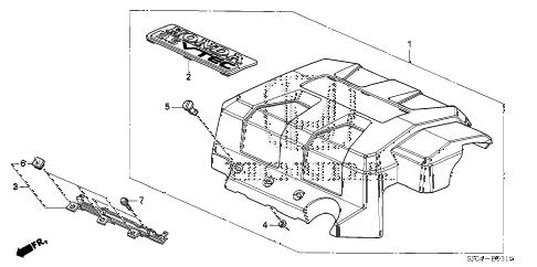 Honda online store : 2007 ridgeline engine cover (1) parts