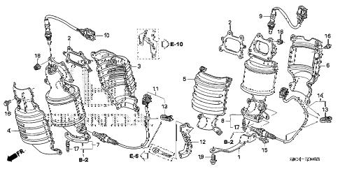 Honda online store : 2006 ridgeline converter (1) parts