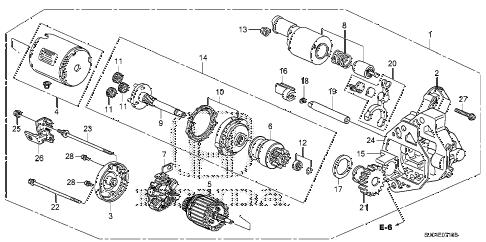 Honda online store : 2006 ridgeline starter motor