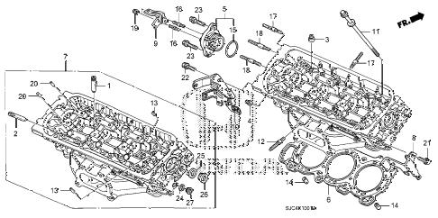 Honda online store : 2008 ridgeline rear cylinder head (1