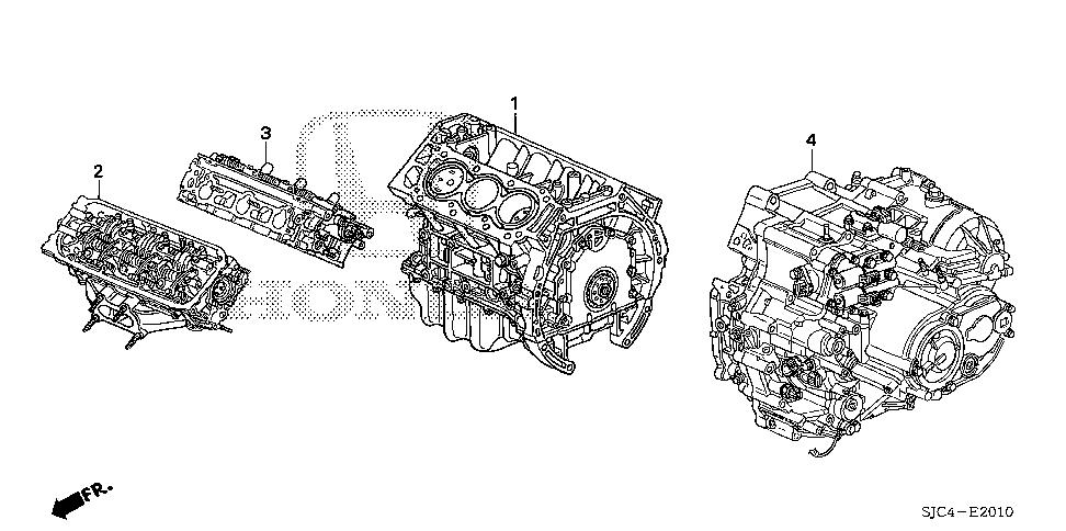 Honda online store : 2012 ridgeline engine assy