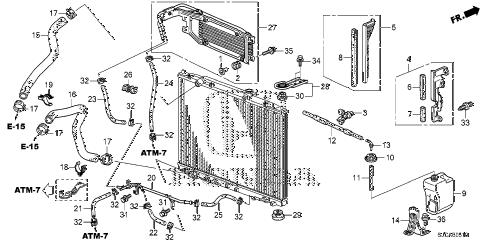 Honda online store : 2014 ridgeline radiator hose parts