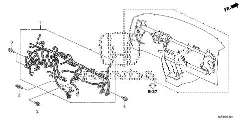 Honda online store : 2014 ridgeline wire harness (2) parts