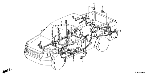 Honda online store : 2014 ridgeline wire harness (3) parts