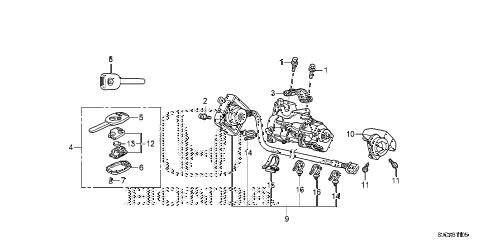 Honda online store : 2014 ridgeline key cylinder