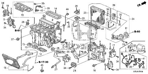 Honda online store : 2014 ridgeline heater unit parts