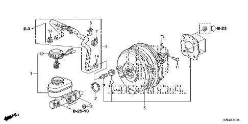 Honda online store : 2014 ridgeline brake master cylinder