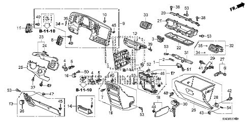 Honda online store : 2014 ridgeline instrument panel