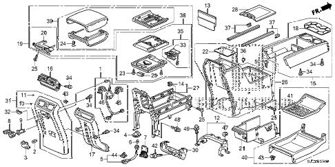Honda online store : 2014 ridgeline console parts
