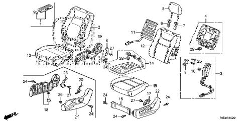 Honda online store : 2014 ridgeline front seat (l.) parts