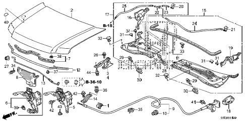 Honda online store : 2014 ridgeline engine hood parts