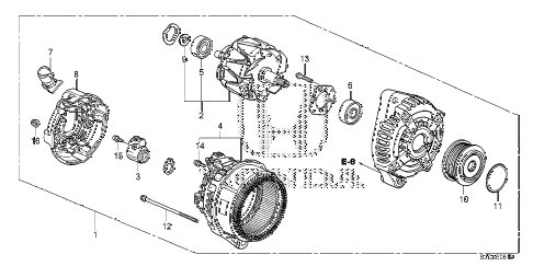 Honda online store : 2014 ridgeline alternator (denso) parts