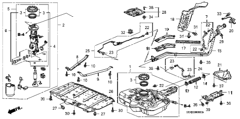 Honda online store : 2007 fit fuel tank parts