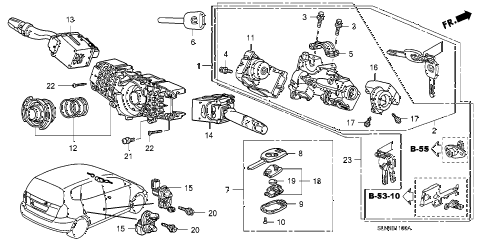 Honda online store : 2007 fit combination switch parts
