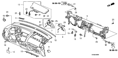Honda online store : 2007 fit instrument panel parts