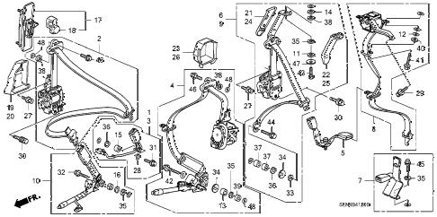 Honda online store : 2008 fit seat belts parts