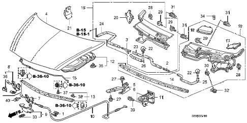 Honda online store : 2007 fit engine hood parts