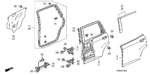 Honda online store : 2007 fit rear door panels parts