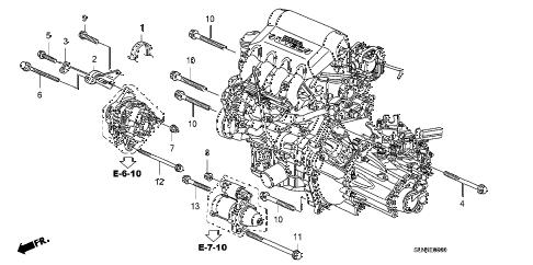Honda online store : 2007 fit alternator bracket parts