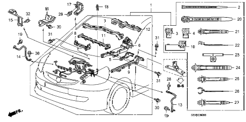 Honda online store : 2007 fit engine wire harness parts