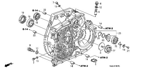 Honda online store : 2006 civic torque converter case parts