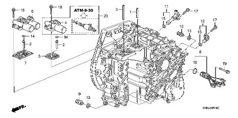Honda online store : 2007 civic solenoid parts