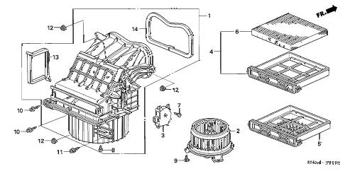 Honda online store : 2007 civic heater blower parts