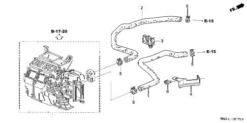 Honda online store : 2008 civic water hose (1.8l) parts