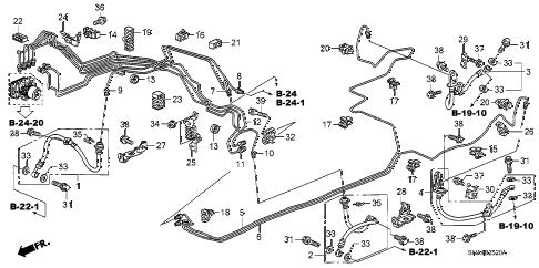 Honda online store : 2008 civic brake lines (vsa) parts