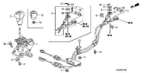 Honda online store : 2007 civic shift lever parts